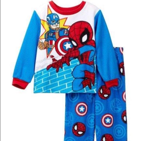 Black Panther Boys Pajamas 2 PAIRS NWT Long Sleeve Cotton Marvel 2 3 4 5 T Snug